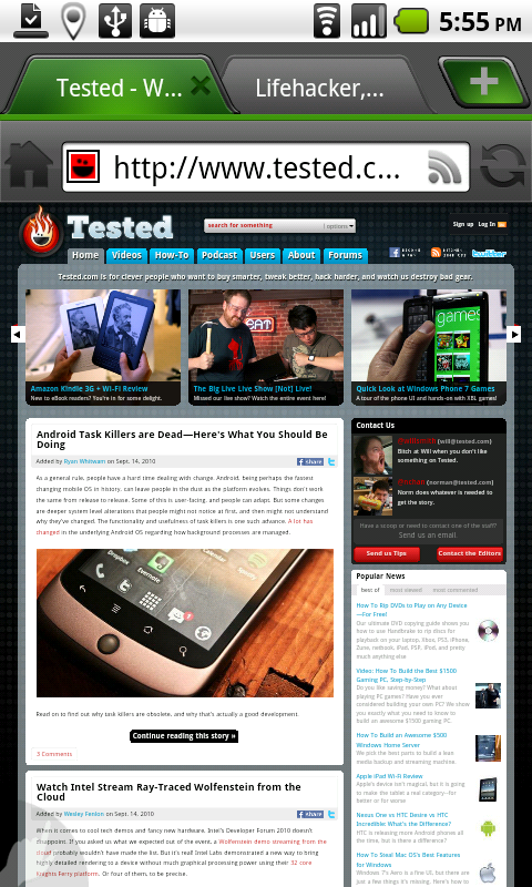 Tested: The Four Top Alternative Android Web Browsers - Tested