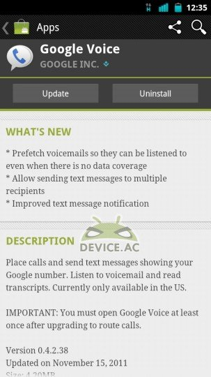 Google Voice Android App Updated With Better Messaging