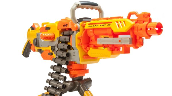 This is the beast of the nerf lineup. It's belt-fed and full-auto. It's an  awesome looking gun by itself, and when customized it just looks like a  monster.