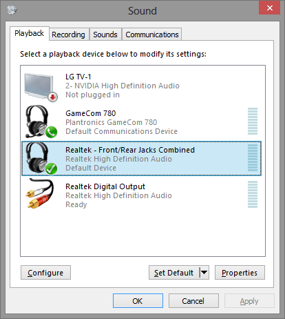 Can't configure headphones in Windows - Tested