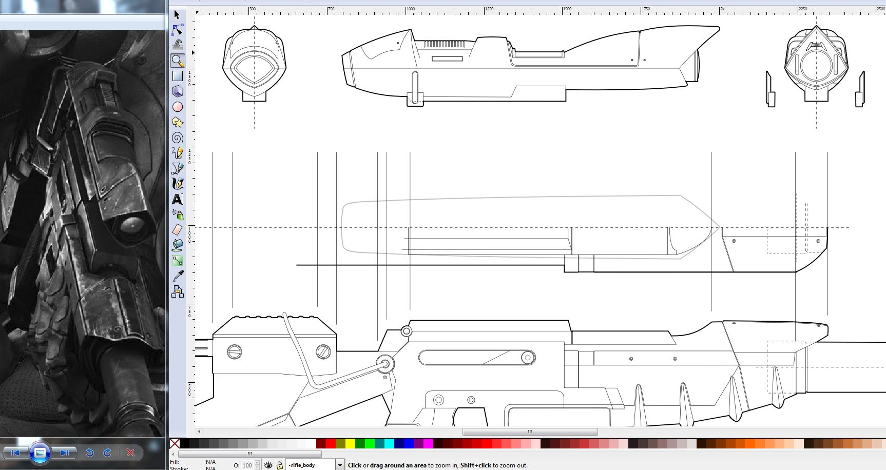 Maker profile bill dorans punished props tested i do all of my 2d design work in inkscape but anything like coreldraw or illustrator will do the same trick if i can i get the most orthographic of my malvernweather Image collections