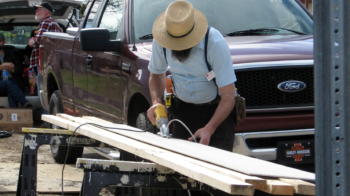 how amish get around using electricity for power tools tested