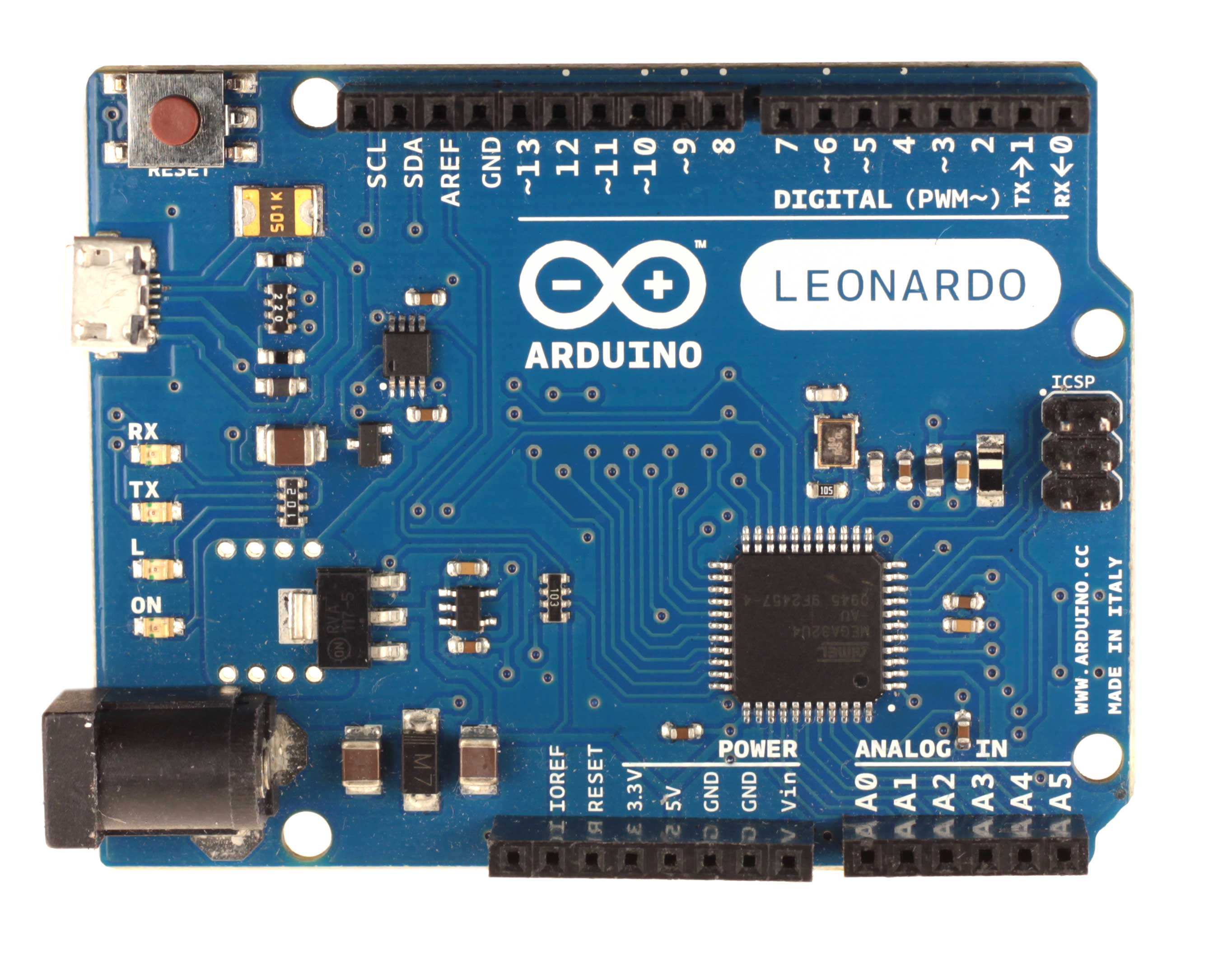 The Leonardo is, essentially, a slight upgrade to the Uno. It looks a lot  like the Uno, but it features a soldered-on ATmega32u4 microprocessor with  a tiny ...
