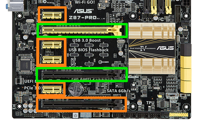 Pci express x16 graphics card in x8 slot
