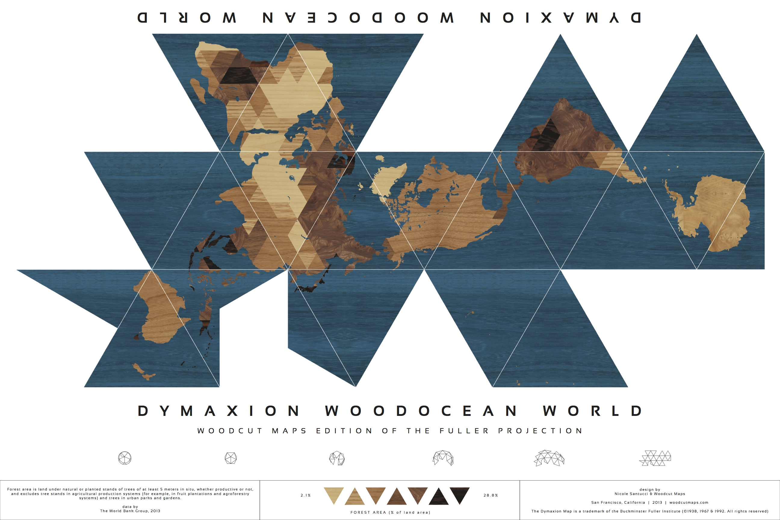 Celebrating unusual maps the winning dymaxion redux and cahills the dymaxion map is presented as a more accurate competitor to the popular mercator projection which distorts the sizes of continents gumiabroncs Images