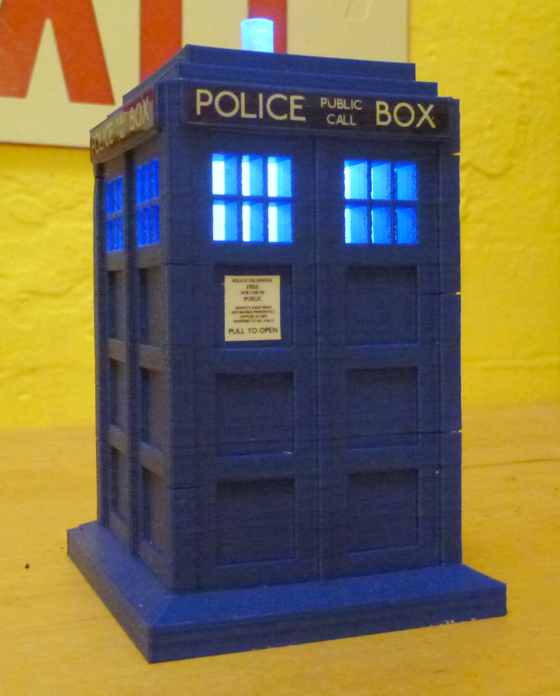 Bits To Atoms 3d Printing An Accurate Replica Tardis Tested