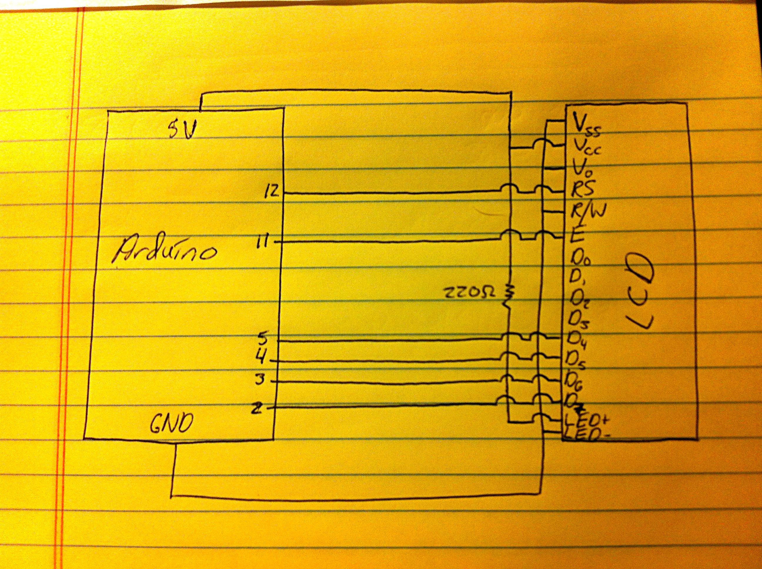 Lcm1602c Lcd Screen Wiring Diagram 34 Images Arduino 59750 Schematic How To Build A Custom Timer Clock And Learn In The Process