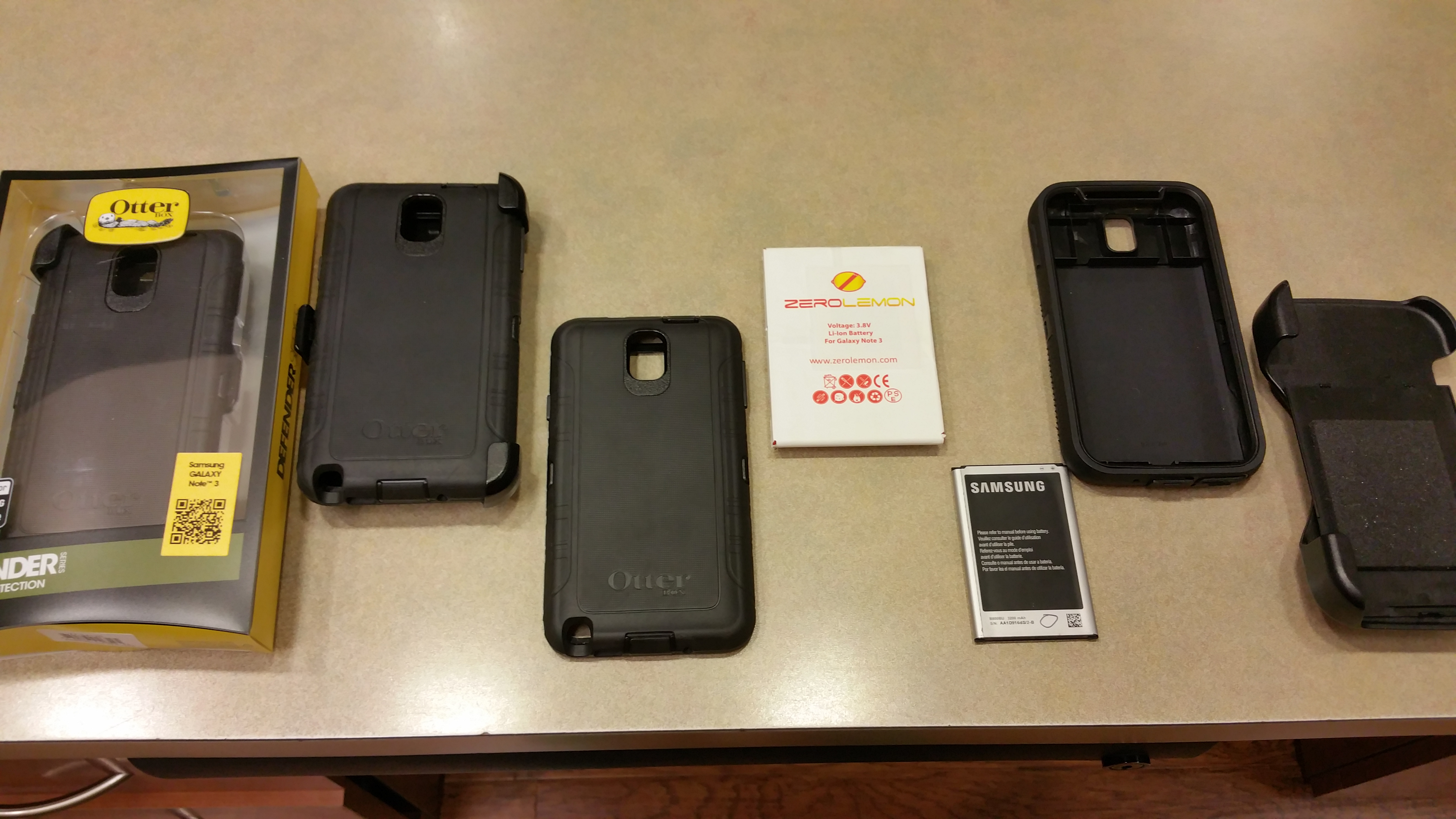best service db70a 6ca77 Note 3 giveaway (Otterbox Defender, Zerolemon 10000mah battery ...