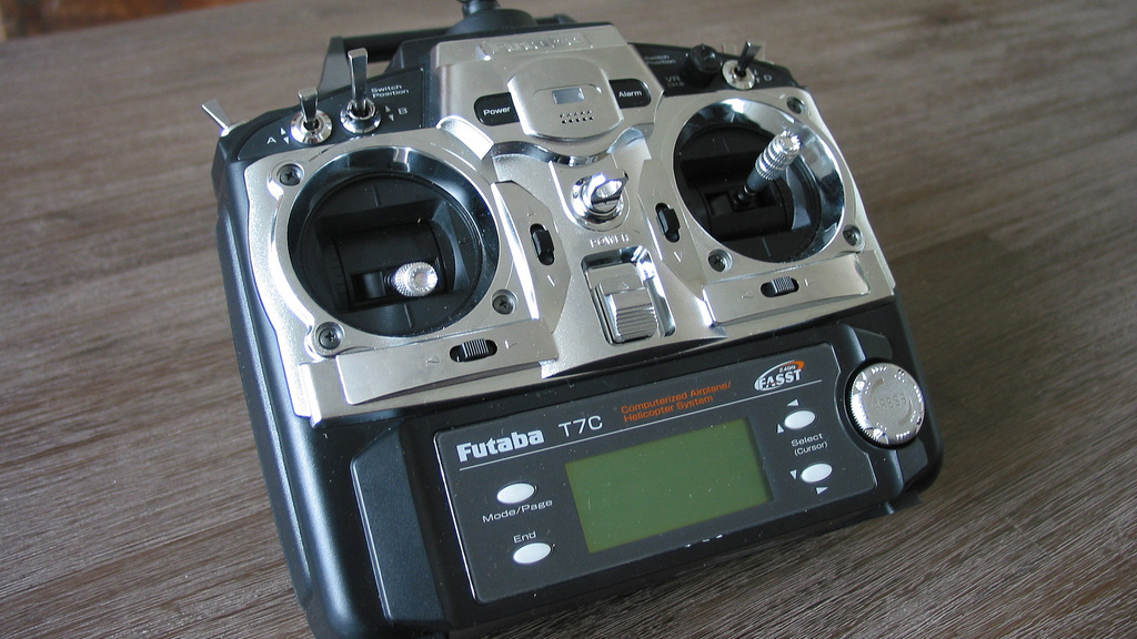 Image result for Have a look at exclusive features of a remote control manufactured by Futaba