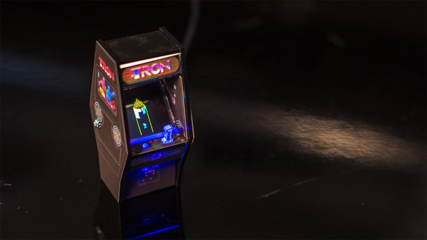 Show and Tell: Tron Arcade Cabinet Miniature Model - Tested