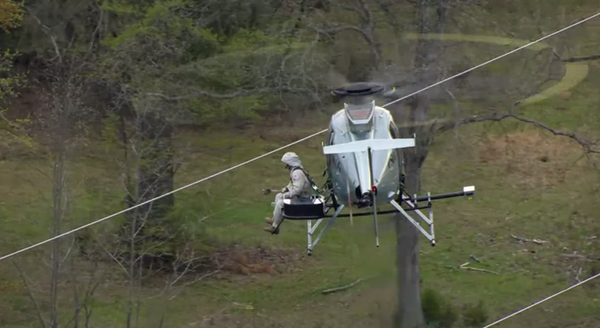 Repairing High Tension Electrical Wires From A Helicopter