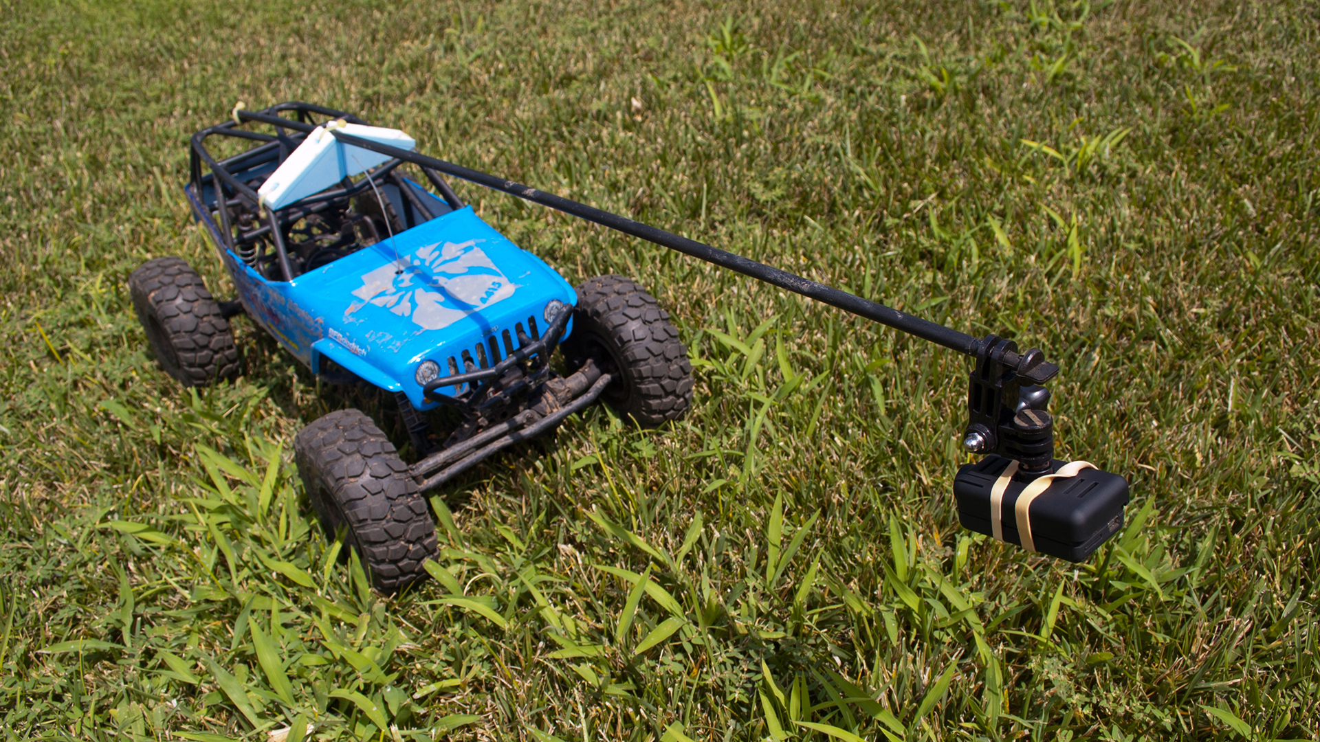 How To Get Into Hobby Rc Mounting Action Cameras Tested Very Simple Radio Control R C Onboard Filming With Cars Is Difficult Due The Rough Ride I Found Some Success Using A Mobius Camera On Boom This Rock Crawler