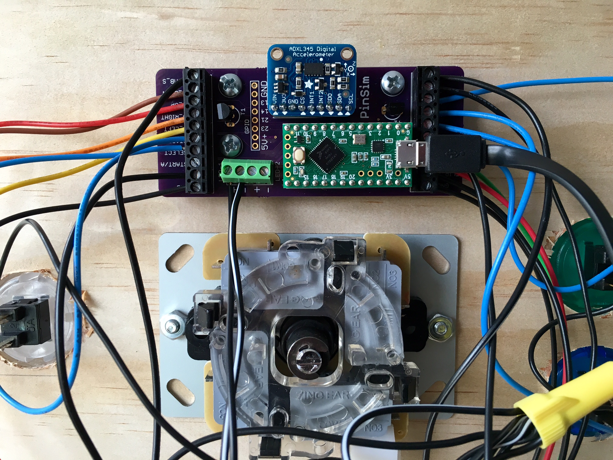 how to build the pinsim virtual reality pinball machine tested wire everything up according to this image if you re using a breadboard or just use the labeled terminals if you re using my pcb note that all components