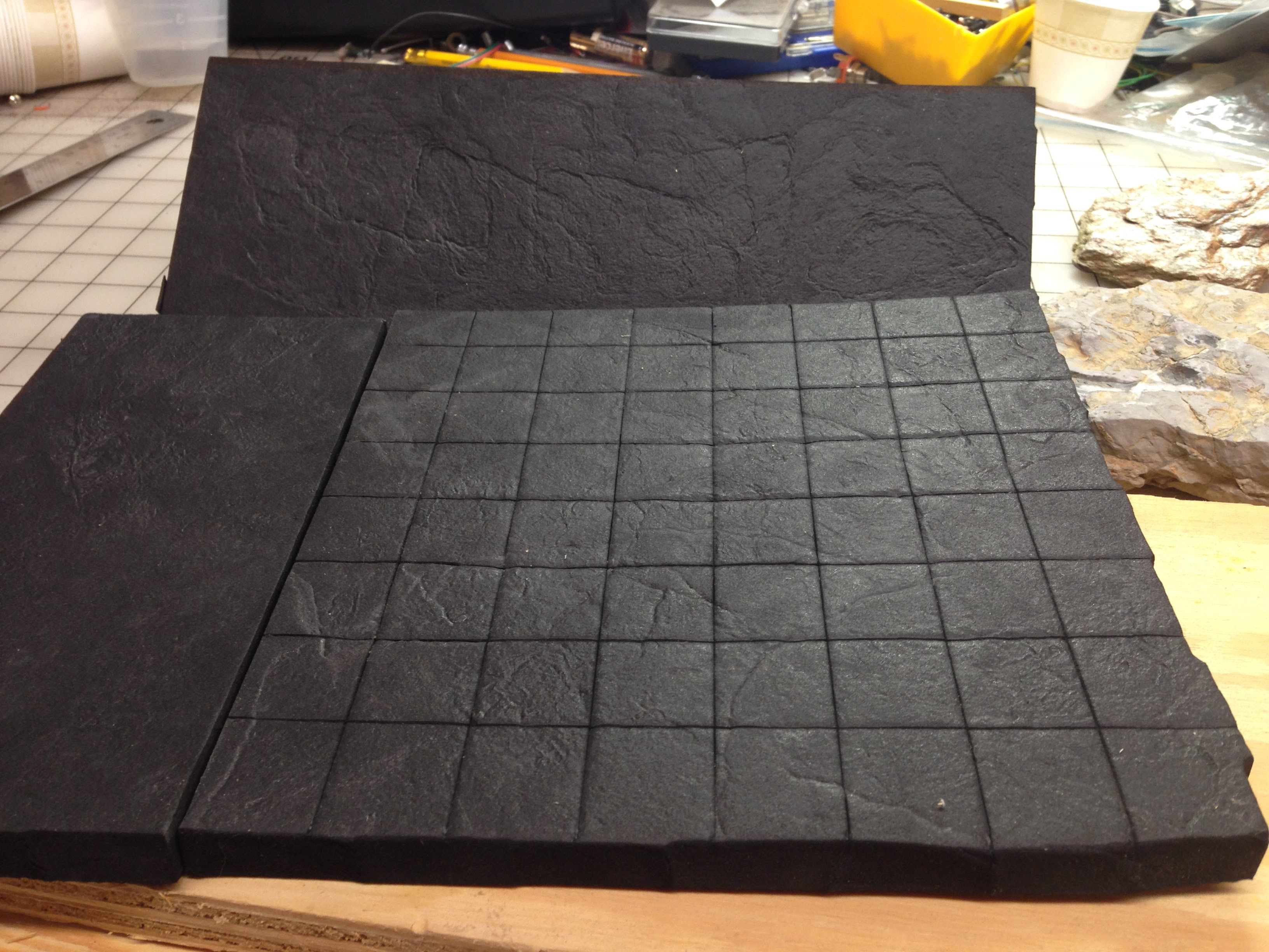 Ongoing Project EVA Foam Dungeon Tiles Tested - Styrofoam floor mats