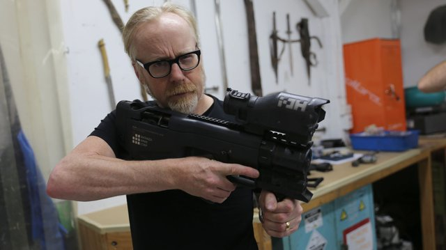 Adam Savage Tests Weta Workshop S Machine Gun Props Tested
