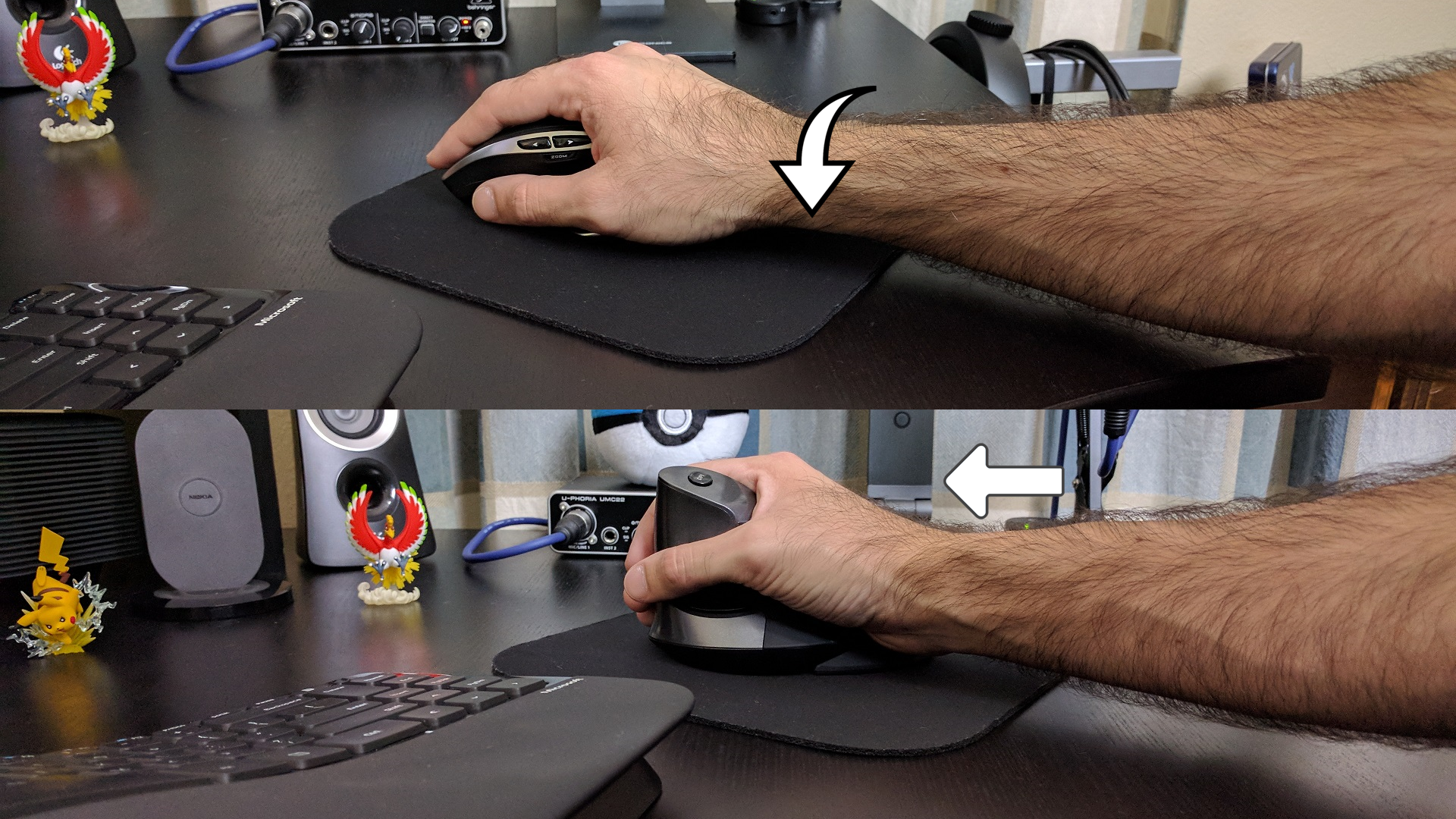 Tasks with a Vertical Mouse