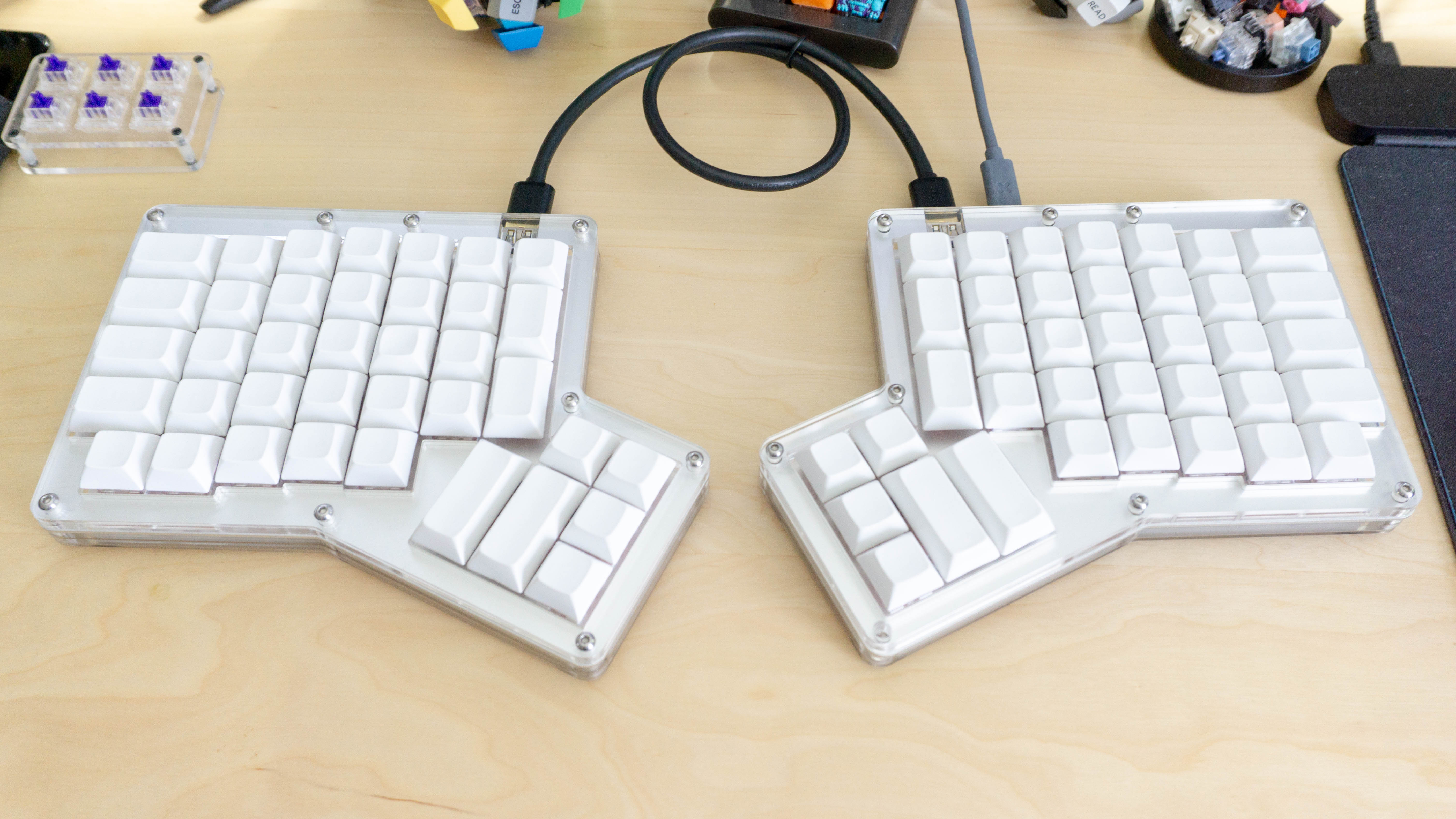 6bce0c43685 ErgoDox keyboards are split halves that are shaped like your hands, and the  newest Ergodox on the market even lets you swap switches without soldering.