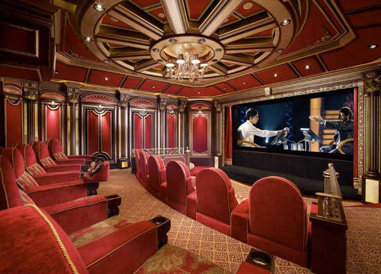Driving The Massive Screen Is A Digital Projection Titan Reference 1080p  Projector. At The Time Of The Interview, The Projector Alone Carried A Price  Tag ...