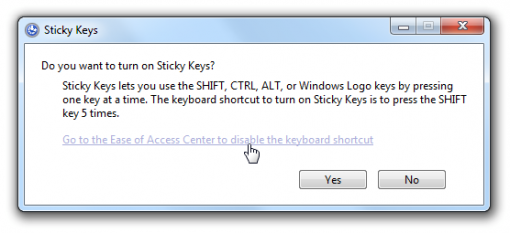 how to turn off sticky keys permanently
