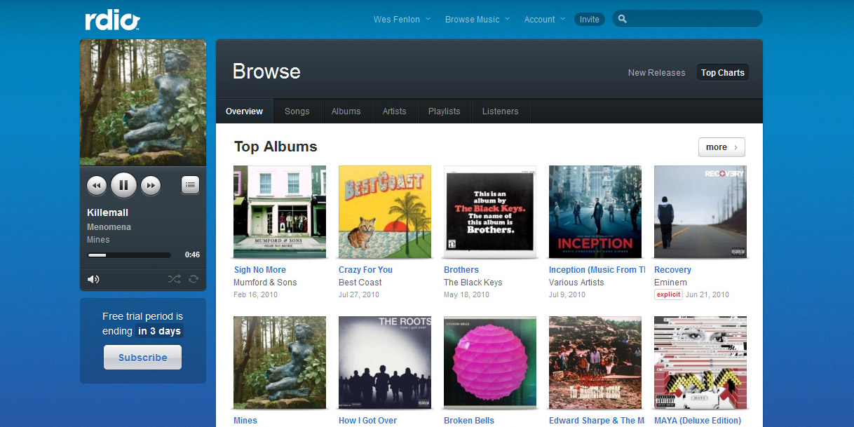 Rdio Music Streaming Goes Live–Here's What You Should Know - Tested