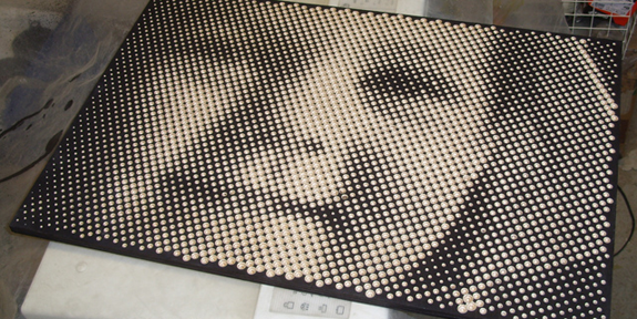 CNC Routing Turns Plywood Into Halftone Art [Video] - Tested